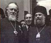 Святейший Патриарх Алексий I и митрополит Гор Ливанских Илия (Карам) в Москве. 1947 г.
