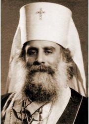 Митрополит Илия (Карам) в белом клобуке Русской Православной Церкви. 1947 г.