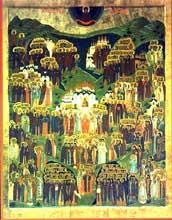 Икона Всех святых на земле Российской просиявших