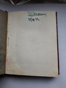 Автограф Шапошникова на книге Симонова